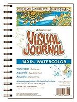 Strathmore Visual Journal Spiral Bound 14cm x 20cm -140 Watercolour .