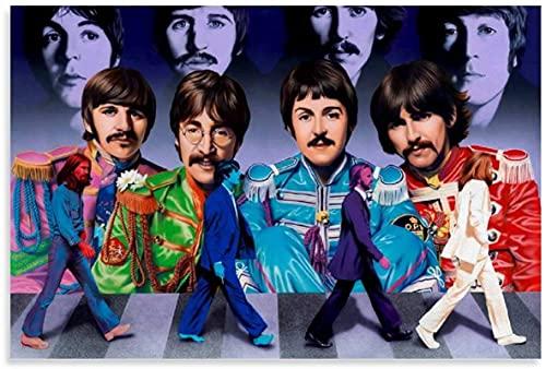 chuanglanja Lienzo Pintura Al Óleo 30x50cm Sin Marco The Beatles Rock Band Arte Moderno Arte de la Pared Impresión de imágenes Carteles de decoración de Dormitorio Familiar Moderno