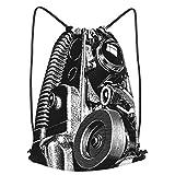 AndrewTop Bolsa Cuerdas con cordón impermeable Unisex,proyector de cine,LigeroCasual ,Deporte Gimnasio Mochilas
