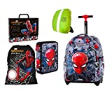 Marvel Spiderman Lot de 5 cartables  roulettes pour enfant avec 2 compartiments Coolpack Trousse de gymnastique Format A4