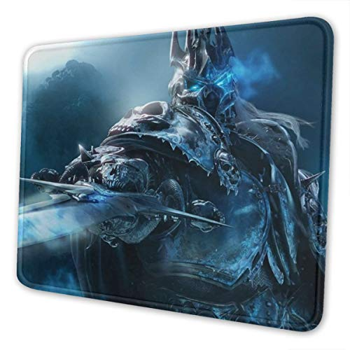 World Warcraft Mouse Pad with Stitched Edge Premium-Textured Mouse Mat Rectangle Non-Slip Rubber Base Oversized Gaming Mousepad,for Laptop & PC 10 x 12 inch