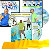 Exercise for Seniors DVD Program- 3 Senior exercise DVDs + Resistance Band. Demonstrated both as standing and chair exercise you choose what is best for you. Fun, easy to follow, go at your own pace.
