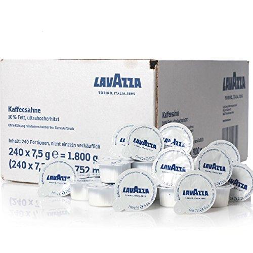 Lavazza Kaffeesahne Portionsmilch 240 x 7,5g Tassenportionen 10% Fett
