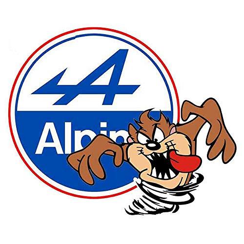 13 cm x 10,5 cm für alpine TAZ Anime Auto Auto Aufkleber und Abziehbilder JDM ATV Graffiti Mode Autozubehör