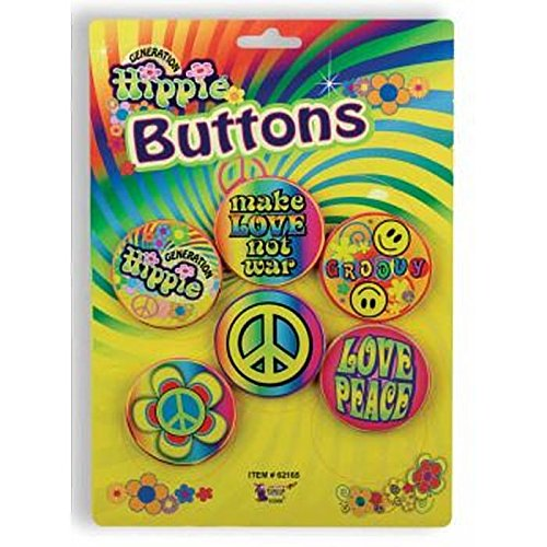 Forum Novelties Hippie 60's Button Set