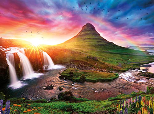Buffalo Games - Iceland Sunset - 1000 Piece Jigsaw Puzzle Multicolor, 26.75'L X 19.75'W
