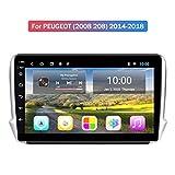 HP CAMP Stéréo Multimédia pour Peugeot (2008 208) 2012-2018, Android 9.0 Autoradio multimédia avec Caméra arrière (Cadeau), Prend en Charge GPS/RDS/BT/SWC/Lecteur de Musique vidéo,4g WiFi 2g+32g