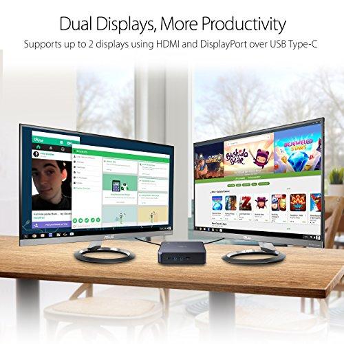Asus CHROMEBOX3-N003U Desktop PC - (Black) (Intel Celeron 3865U 1.8 GHz, 4 GB RAM, 32 GB SDD, Chrome OS) - Google Play Enabled
