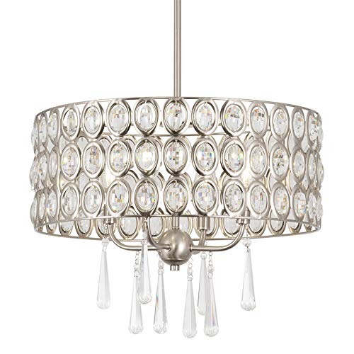 Kira Home Amelia 18' Modern Chic 4-Light Crystal Chandelier...