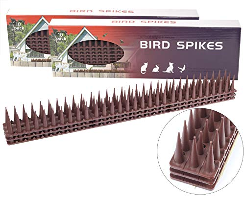 Cemocle 20 Pack Plastic Bird Spikes Nest-Prevention Deterrent Spikes for Cats, Birds, Pigeon and Other Animals