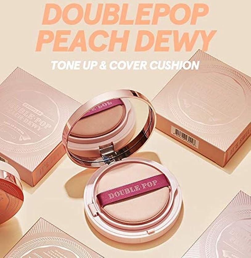 麺カタログ割り込み【キャンディラボ公式ストア】Doublepop Peach Dewy Cushion/ダブルポップピーチ クッションファンデ/正品?海外直送商品 [並行輸入品] (#17 Porcelain Peach)