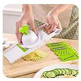 Multifunción vegetal rebanadora con corte de vegetales Peeler Pelotero Grindero de requesillo de requeser (Color : Model 1 green)