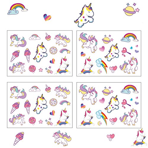 Oblique Unique® Einhorn Sticker I farbenfrohe Selbstklebende Aufkleber I Unicorn I Kindergeburtstag I Deko