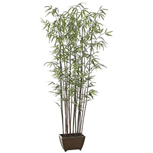Allstate Set of 2 Potted Artificial Bamboo Wall Trees 6′