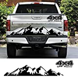 DLDBB Etiqueta engomada del Coche 4X4 Off Road Graphic Vinyl Decal Auto Accesorios, para Ford Ranger Raptor Pickup Isuzu DMA Nissan NAVARA Toyota Hilux