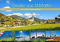 Gruesse aus St.Martin (Wandkalender 2022 DIN A3 quer): Impressionen und vier Jahreszeiten aus St.Martin am Tennengebirge (Monatskalender, 14 Seiten )