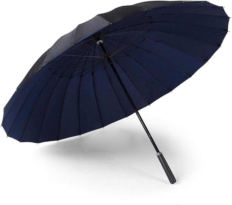 POLBB (Umbrella) 24 Straight Long Handle Double Layer Umbrella Men Women Travel Umbrella Outdoor Waterproof UV Beach Umbrella Multicolor Optional (color   E)