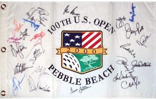 Authentic Autographed 2000 US Open Flag Golf Beach Pebble Cheap bargain Pin New sales