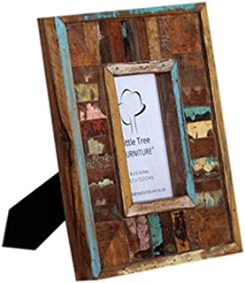 Little Tree Furniture Tara Reclaimed Picture Frame, Wood Multi-Colour, 29 x 25 x 3 cm