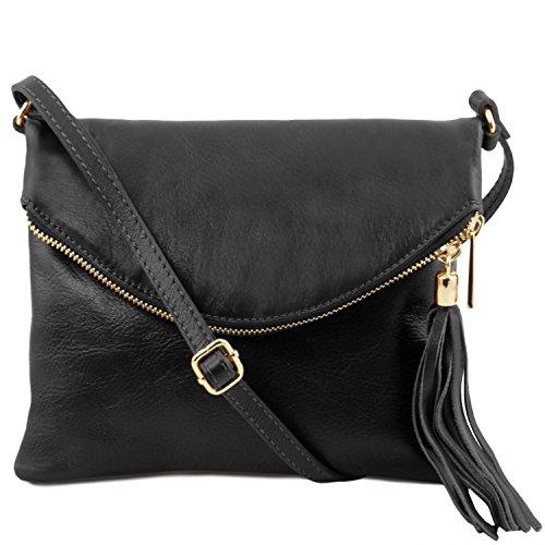 Tuscany Leather - TL Young Bag - Borsa a tracolla con nappa Nero - TL141153/2