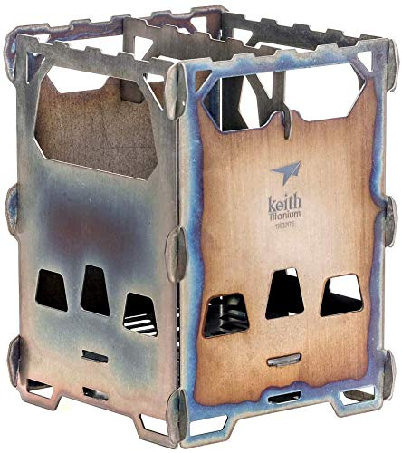 Gewaha 超軽量 チタニウムアルコールストーブ 五徳 折りたたみ式 チタン製ポケットストーブ ポットスタンド アウトドア キャンプ 旅行 携帯便利 Ti2201