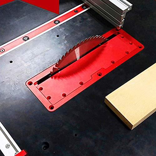 TXYFYP Eléctrico Sierra Circular FILP Cubierta Placa Flip-Floor Mesa Especial Cubierta Placa Ajustable Aluminio Inserción Placa para Mesa Sierra Circular - Rojo, 1pc