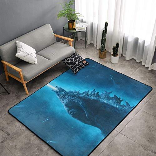 XIAODONG Godzilla - Alfombra de poliéster muy suave y acogedora decoración para salón, dormitorio, cocina, dormitorio para niños, 60 x 39 pulgadas