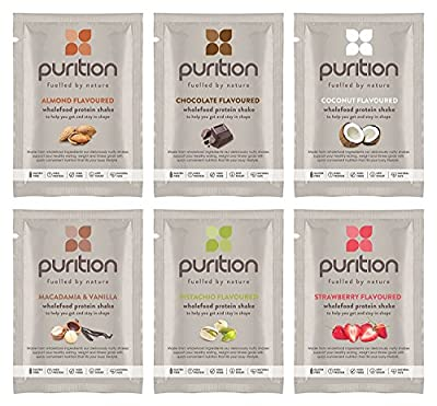 Purition Original Trial Box | High Protein Alternative To Meal Replacement Shake or Smoothie | Healthy Omega Fats and Fibre from All Natural Energy-Rich Wholefoods | Ideal for Weight Loss and Post Workout Recovery | 6 x 40 grams Sachets by Purition