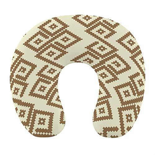 AOOEDM Almohada de Viaje en Forma de U para el Cuello, marrón,...