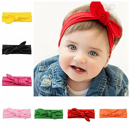 7pcs//set Baby Girls Kids Lovely Noeud Serre-tête épingles à Cheveux Pince à Cheveux Bandeau