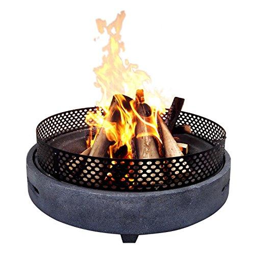 Gardenesque Hoxton Fire Pit, Color Gris
