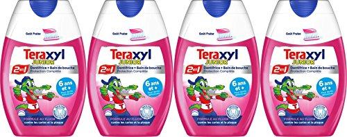 Teraxyl - Dentifrice Junior/Enfant - Flacon 75 ml - - Lot de 4