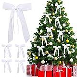 80PCS Lazo para árbol de Navidad AirSMall Cinta Lazo para Decorar Boda/Cinta de Regalo Arco de boda vintage Coche Cinta de satén Hecha a Mano Decoración para Navidad Decoración de Guirnalda de Navidad