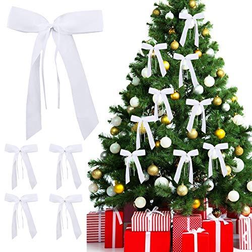 AirSMall 80pcs Bogen für Weihnachtsbaum Antennenschleifen Hochzeit Autoschleifen Autoschmuck Vintage Hochzeitsschleifen Auto Handgemacht Satinband Dekoration für Weihnachten Weihnachtskranz Dekor