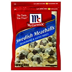 Seasoning & sauce mixes for traditional Swedish meatballs No MSG Added* No artificial flavors Create a creamy sauce or hearty stew PREP TIP: Serve over noodles for a scrumptious, homestyle meal