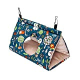 Petmolico Bird Nest Shed Hut House, Warm Hanging Hammock Cage Accessories Snuggle Sleeping Bed Hideaway for Parrot Parakeet Cockatiels Cockatoo Lovebird Finch, Medium Size