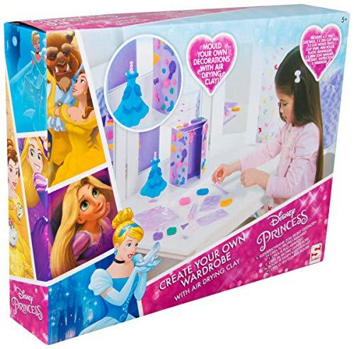 Sambro DSP8-1072 Bastelset zum Gestalten eines Puppen Kleiderschrank, Disney Princess, mit viel Zubehör, bunt