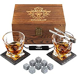 Housewarming-Gifts-for-Men-Whiskey-Glass-Stones-Set