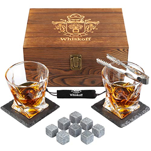 Bourbon Whiskey Stones Gift Set