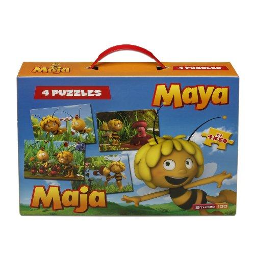 Studio 100 MEMA00001150 - Die Biene Maja, Puzzle-Koffer, 4 x 50 Teile
