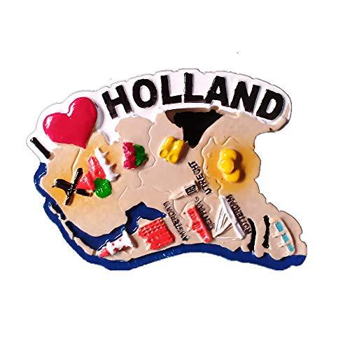 Holland Holland Kaart Sape 3D Koelkast Magneet Souvenir Gift Thuis & Keuken Decor Magnetische Sticker, Nederland Koelkast Magneet Collectie