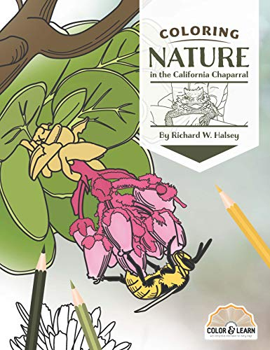 Coloring Nature in the California Chaparral (Color and Learn)