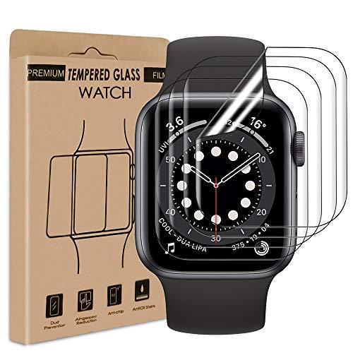 Carantee Schutzfolie für Apple Watch Series 4/5 / 6 / SE (40mm), TPU Flexibel Displayschutzfolie Anti-Bubble, Volle Abdeckung, HD Klar Soft Folie [4 Stück]