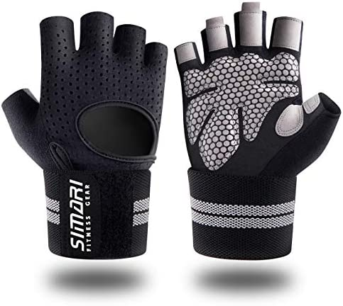 SIMARI Workout Gloves Men Women Full Finger Weight Lifting Gloves with Wrist Support for Gym product image