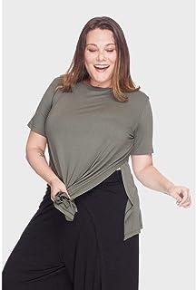 Blusa Fenda Lateral Plus Size