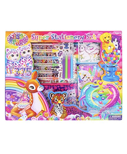 Lisa Frank Super Stationery Set 2015 - Over 375 pieces Stickers Markers