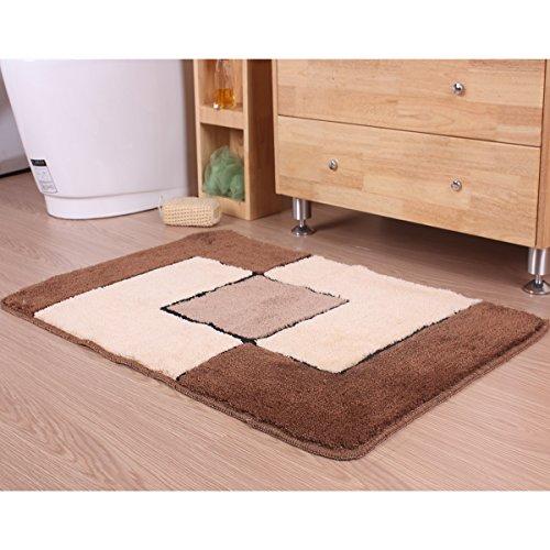 britools tapijt badkamer acryl, zie beschrijving, tegels bruin, 50 x 70 x 0,6 cm