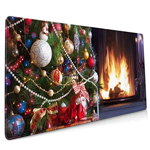 Multifunktions-Mauspad, erweitertes großes Mauspad, Mauspad für Büro/Spiel/Familie Weihnachtsbaum und Herd