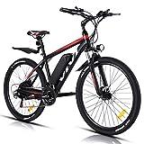 VIVI 250W Vélo Électrique Adulte Vélo de Montagne 26', Batterie 36V/10.4Ah Amovible/Engrenages 21 Vitesses/Vitesse Maximum 25km/h/Convient aux Adultes