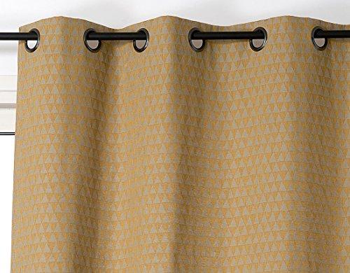 Linder gordijn Trend, katoen, mosterdgeel, 140 x 260 cm